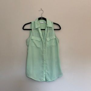 New York and Company sleeveless button up